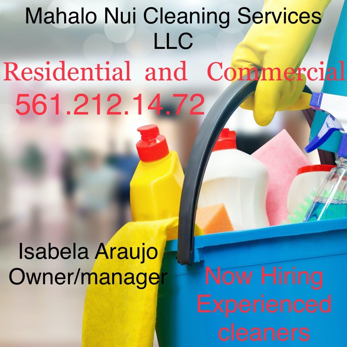 Logo Mahalo Nui Cleaning